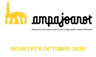Novetats AMPA - Octubre 2018