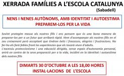 Xerrada NENS I NENES AUTÒNOMS, AMB IDENTITAT I AUTOESTIMA. PREPAREM-LOS PER LA VIDA (Escola Catalunya)