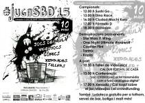 JugaSBD'15: I Jornada de jocs de taula, còmics i noves tecnologies